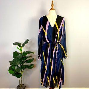 Anthropologie Dress Pleated Bottom Half Size M